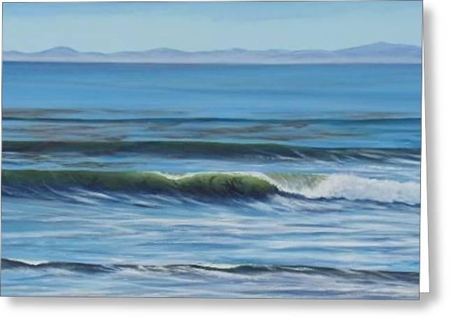 Santa Cruz Surfing Paintings Greeting Cards - Summer Surprise Greeting Card by Jeffrey Campbell