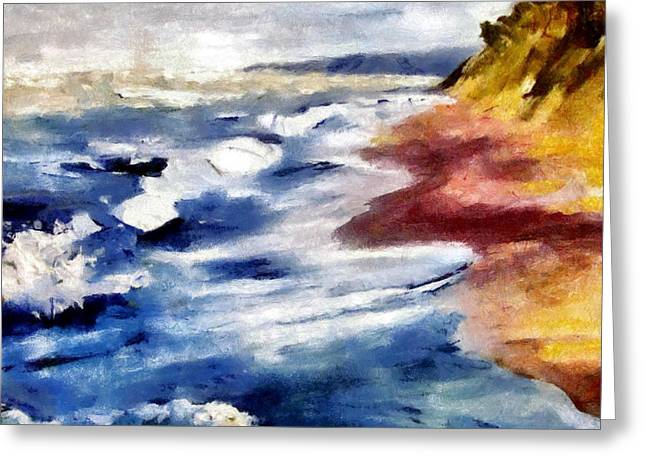 Oil Paint Digital Art Greeting Cards - Summer Tempest Greeting Card by Michelle Calkins