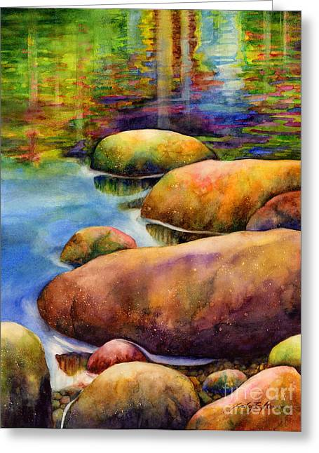 Pebbles Paintings Greeting Cards - Summer Tranquility Greeting Card by Hailey E Herrera
