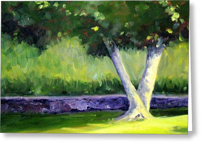 Summer Tree Greeting Card by Nancy Merkle