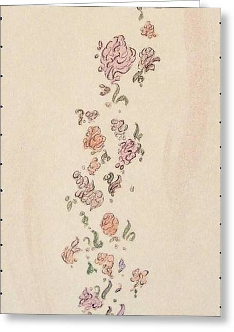Vines Pastels Greeting Cards - Summer Trellis Greeting Card by Christine Corretti