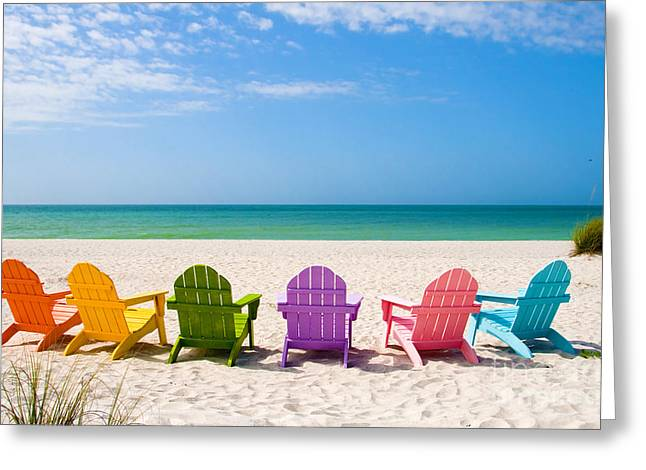 2 Seat Greeting Cards - Summer Vacation Beach Greeting Card by ELITE IMAGE photography By Chad McDermott