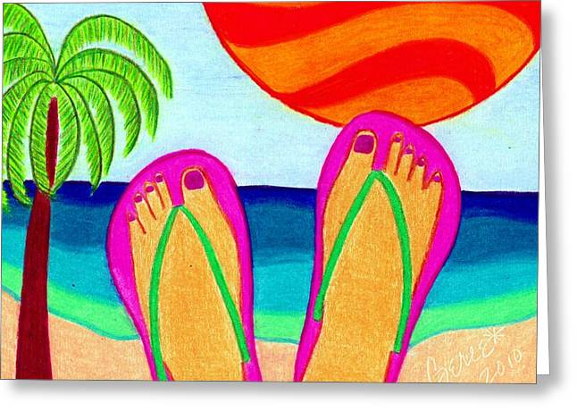 Ocean Greeting Cards - Summer Vacation Greeting Card by Geree McDermott