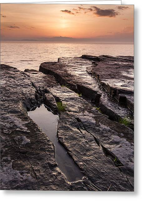 Lake Champlain Greeting Cards - Summer-Vermont-Lake Champlain-Sunset Greeting Card by Andy Gimino