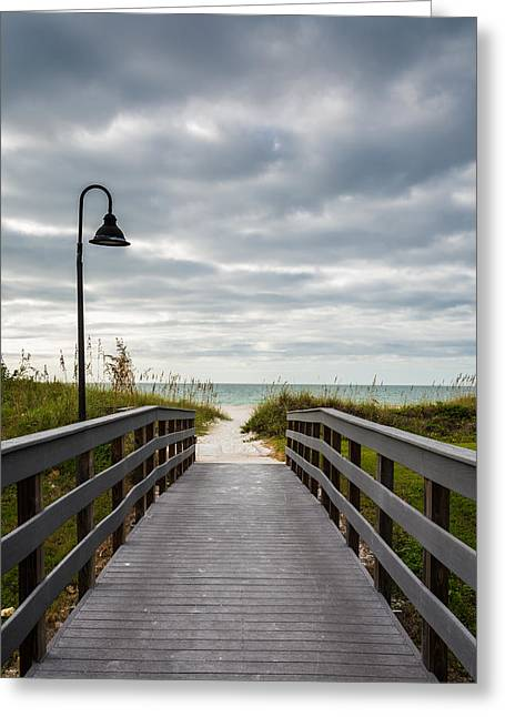 Walk On The Beach Greeting Cards - Summer Walk Greeting Card by Clay Townsend