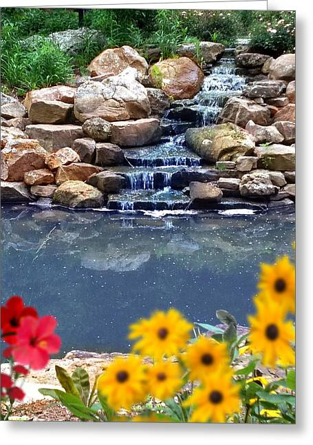 Top Seller Greeting Cards - Summer Waterfall Greeting Card by Digital Creations