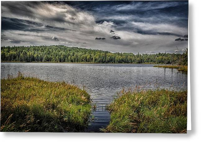 Boundary Waters Mixed Media Greeting Cards - Summer Waters 2 Greeting Card by Todd and candice Dailey