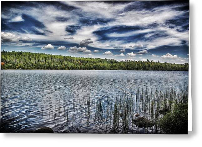 Boundary Waters Mixed Media Greeting Cards - Summer Waters Greeting Card by Todd and candice Dailey