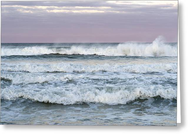Summer Waves Seaside New Jersey Greeting Card by Terry DeLuco