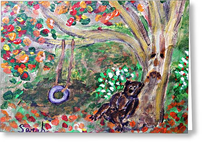 Fanciful Paintings Greeting Cards - Summer Went By Too Quickly 2 Greeting Card by Sarah Loft