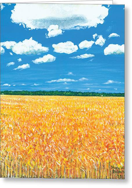 Wheat Field Sunset Print Greeting Cards - Summer Wheat Greeting Card by Shara  Wright