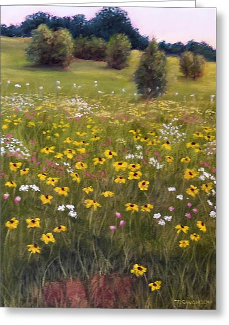 Tennessee Pastels Greeting Cards - Summer Wildflowers Greeting Card by Joan Swanson