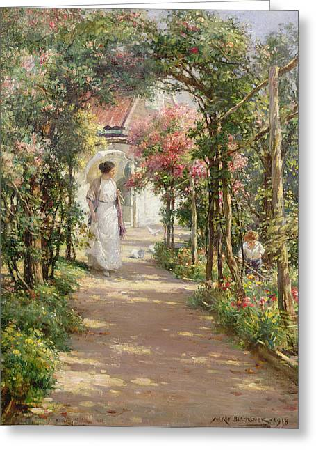 In The Shade Greeting Cards - Summer Greeting Card by William Kay Blacklock