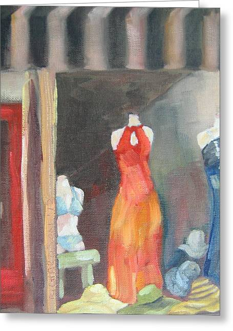 Florida Panhandle Paintings Greeting Cards - Summer Window Greeting Card by Susan Richardson
