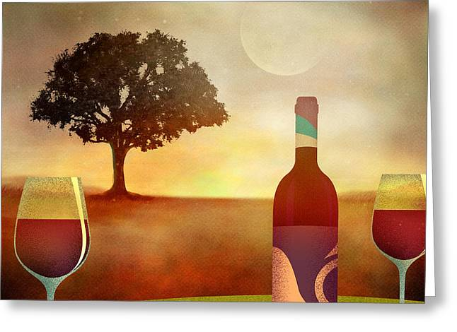 Heat Mixed Media Greeting Cards - Summer Wine Greeting Card by Bedros Awak