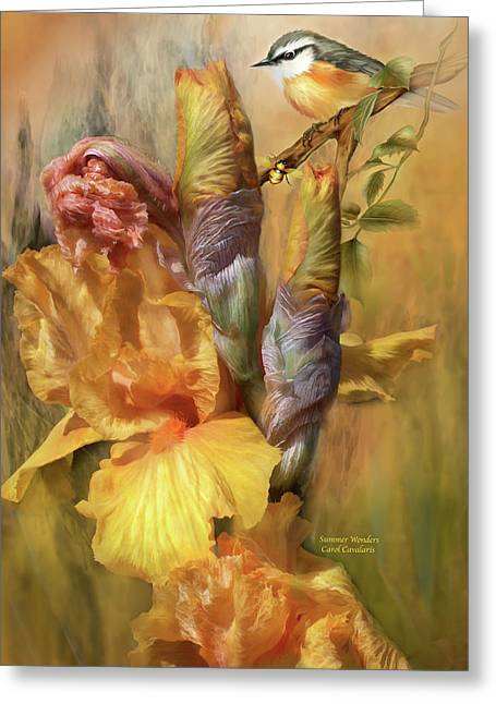 Flora Art Greeting Cards - Summer Wonders Greeting Card by Carol Cavalaris