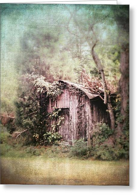 Shack Greeting Cards - Summerfield Shed Greeting Card by Melissa Bittinger