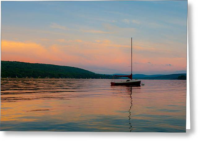 Keuka Greeting Cards - Summers Calm End Greeting Card by Colin Collins