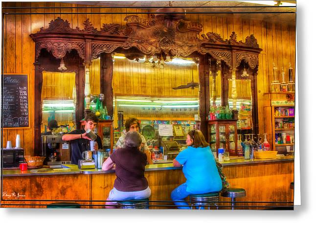 Barry Styles Greeting Cards - Old Drug Store - Summers Day Shakes Greeting Card by Barry Jones