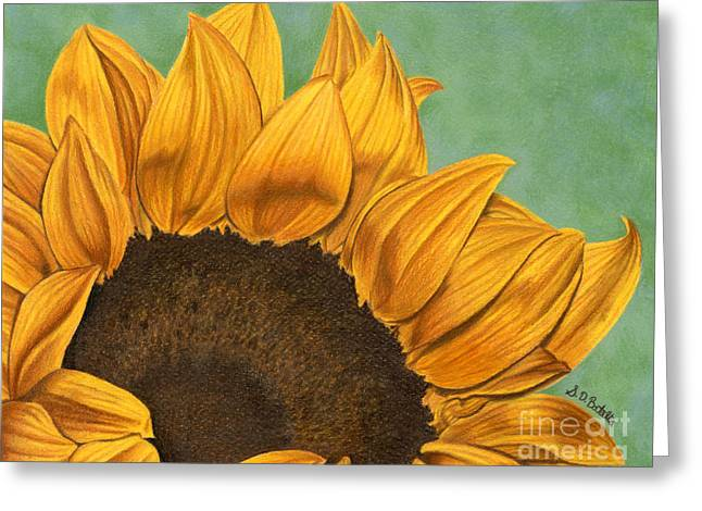 Sunflower Seeds Greeting Cards - Summers End Greeting Card by Sarah Batalka