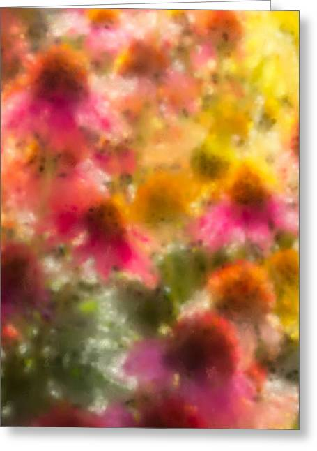 Yellow Coneflower Greeting Cards - Summers Palette iPhone Case Greeting Card by Heidi Smith