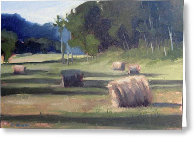 Leipers Fork Paintings Greeting Cards - Summers Shade Greeting Card by Erin Rickelton