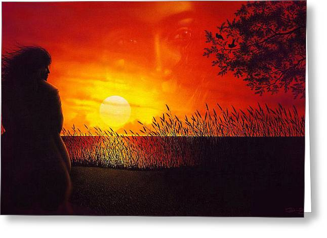 Sunset Greeting Cards Drawings Greeting Cards - Summers Song Greeting Card by Tony Nixon