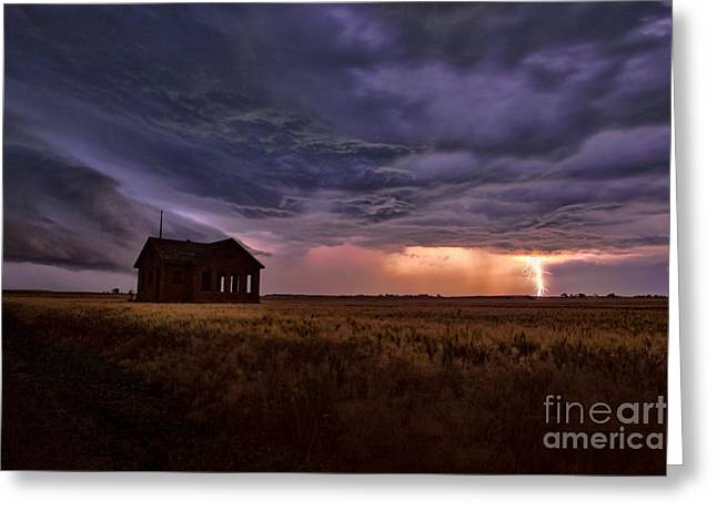 Thunderstorm Greeting Cards - Summers Storm Greeting Card by Jill Van Doren Rolo