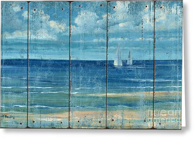 Summerset Sailboats - Distressed Greeting Card by Paul Brent