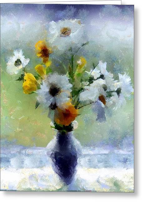Square Format Greeting Cards - Summerstorm Still Life Greeting Card by RC deWinter