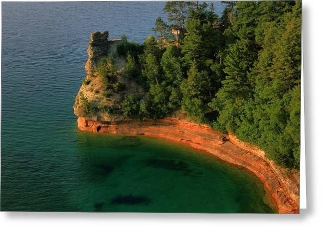 Miner Greeting Cards - Summertime At Pictured Rocks National Lakeshore Greeting Card by Dan Sproul