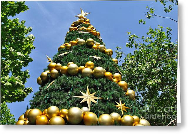 Christmas Greeting Photographs Greeting Cards - Summertime Christmas Greeting Card by Kaye Menner