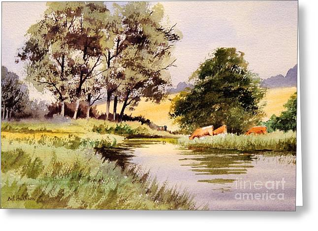Trout Fishing Greeting Cards - Summertime In England Greeting Card by Bill Holkham