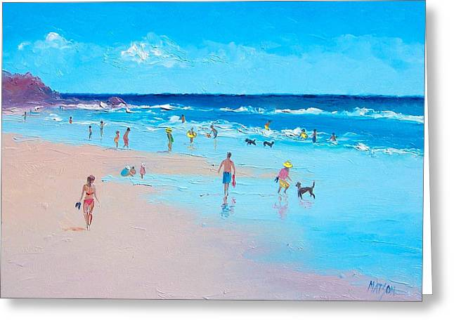 Beach Art Greeting Cards - Summertime Greeting Card by Jan Matson