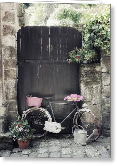 French Door Greeting Cards - Summertime Greeting Card by Joana Kruse
