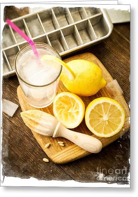 Lemonade Greeting Cards - Summertime Lemonade Greeting Card by Edward Fielding