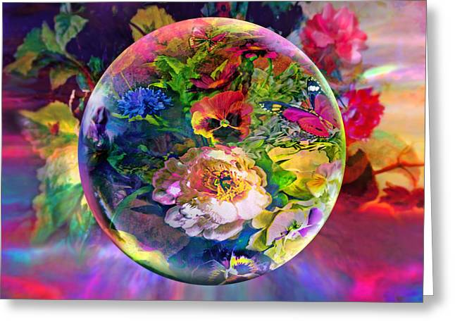 Orb Greeting Cards - Summertime Passing Greeting Card by Robin Moline