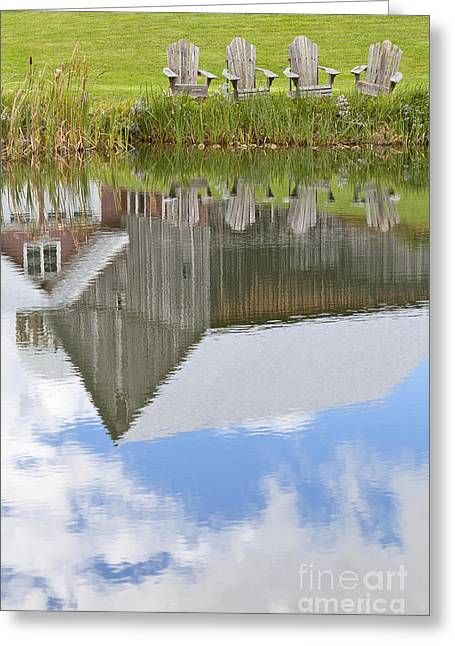 Blue Green Water Greeting Cards - Summertime Reflections Greeting Card by Alan L Graham