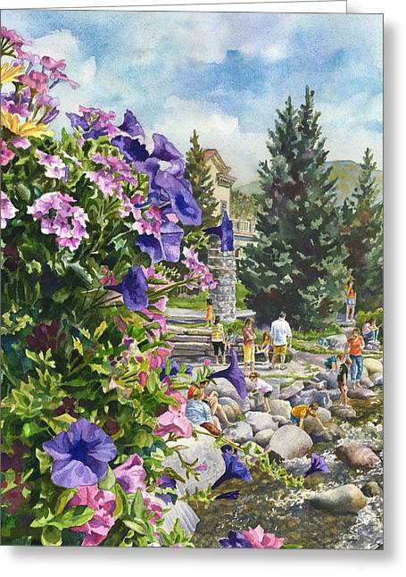 Amusements Greeting Cards - Summertime Saturday Greeting Card by Anne Gifford