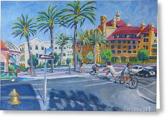Stockton Paintings Greeting Cards - Summertime Greeting Card by Vanessa Hadady BFA MA