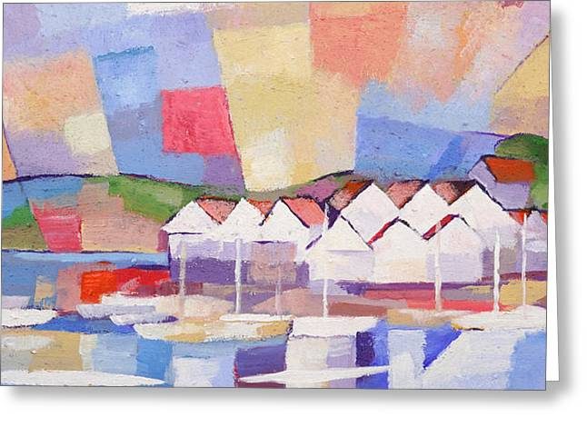 Abstractions Greeting Cards - Summerview Panoramic Greeting Card by Lutz Baar