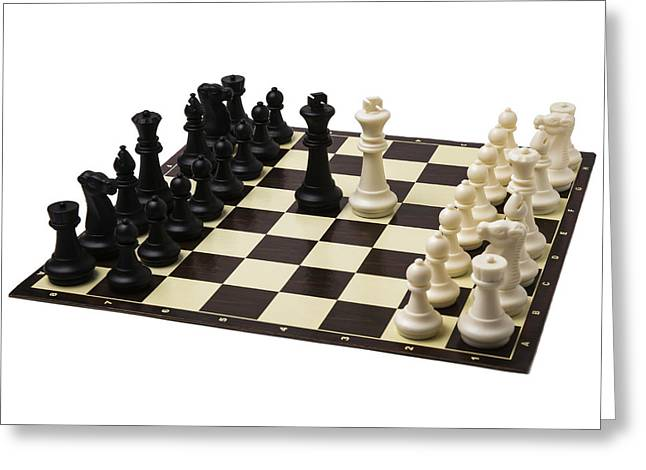 Chess Piece Greeting Cards - Summit Greeting Card by Alexander Senin