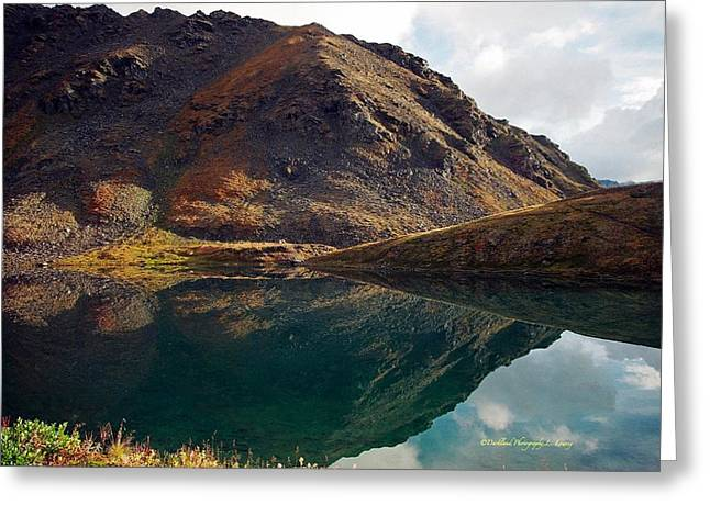 Mountain Reflection Lake Summit Mirror Greeting Cards - Summit Lake Reflection Greeting Card by Laura Lowrey