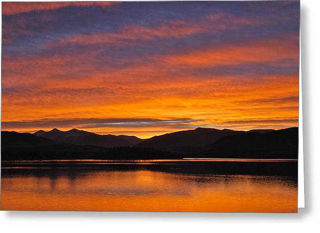 Bob Berwyn Greeting Cards - Summit skies Greeting Card by Bob Berwyn