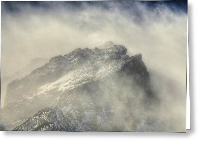 Blowing Snow Greeting Cards - Summit Winds in Rocky Mountain National Park Greeting Card by Ken Smith