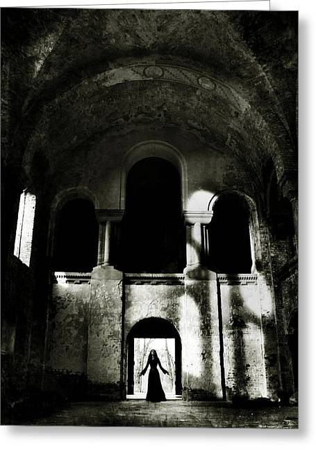 Historical Buildings Photographs Greeting Cards - Summoning Greeting Card by Wojciech Zwolinski