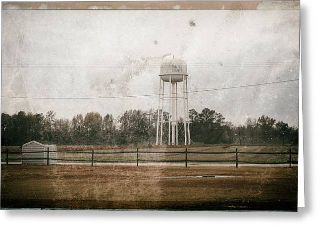 Watertower Greeting Cards - Sumter County SC Greeting Card by Mauricio Jimenez