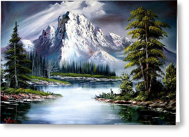 Bob Ross Paintings Greeting Cards - Sun After Rain Greeting Card by Shirwan Ahmed