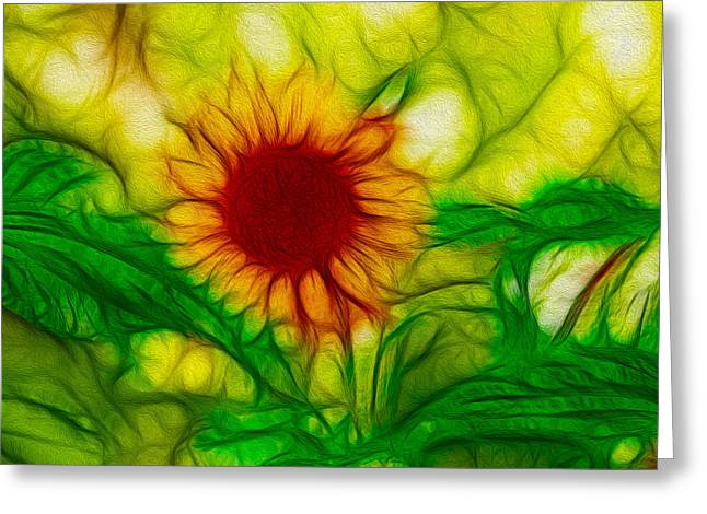 Methow Valley Greeting Cards - Sun and a Flower Greeting Card by Omaste Witkowski