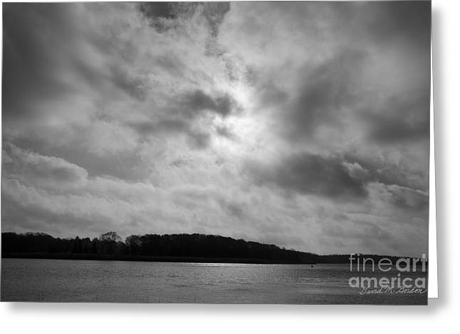 Watershed Greeting Cards - Sun and Clouds Taunton River Greeting Card by David Gordon